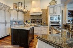off_white_cabinets_dark_wood_kitchen_island